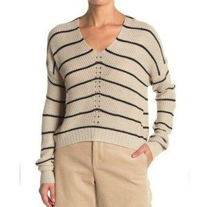 Absolutely Cotton Mitered Stripe Pullover Sweater